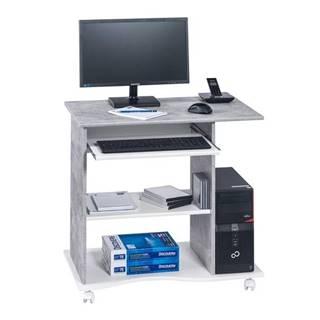 PC stôl CASH biela/betón