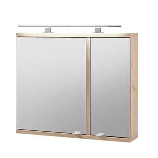 Zrkadlová skrinka TROJA dub artisan
