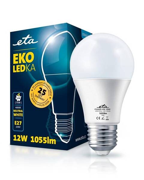 Eta LED žiarovka ETA EKO LEDka klasik 12W, E27, neutrálna biela