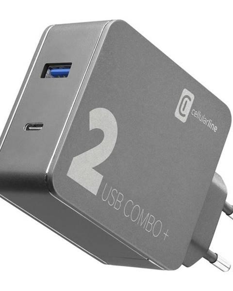 CellularLine Nabíjačka do siete CellularLine Multipower 2 Combo Plus,1x USB 3.0,