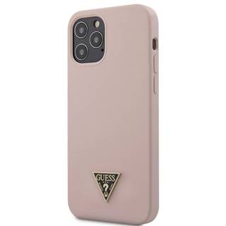 Kryt na mobil Guess Silicone Metal Triangle na Apple iPhone 12 Pro
