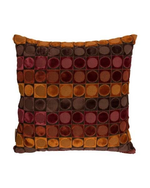 Dutchbone Červeno-oranžový vankúš Dutchbone Ottava, 45×45 cm