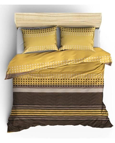 Bonami Prešívaná prikrývka s obliečkami na vankúše Miranda Yellow, 200×220cm