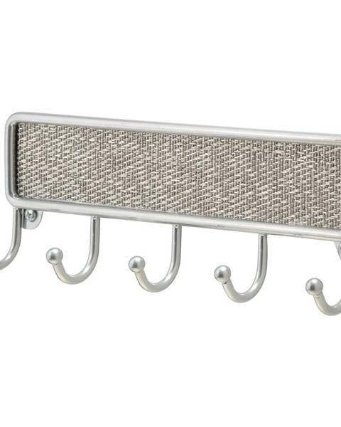 iDesign Kovový vešiak na kľúče iDesign Twill, 21 x 14 cm