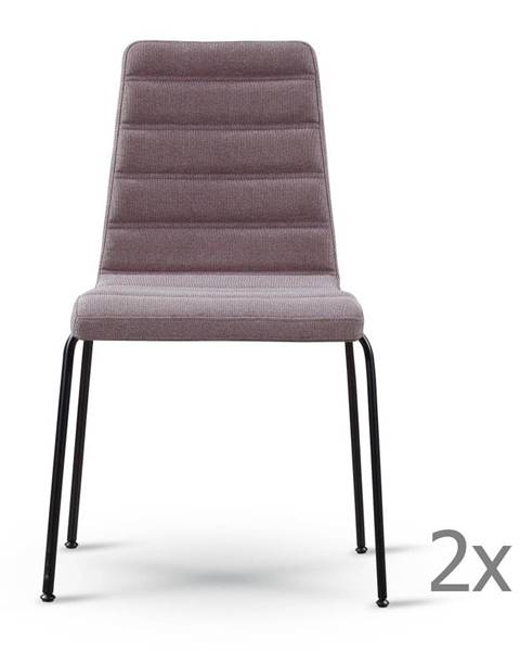 Garageeight Sada 2 sivohnedých stoličiek s čiernymi nohami Garageeight