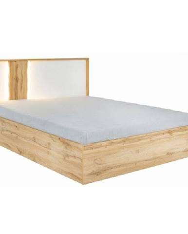Posteľ dub wotan/biela 160x200 VODENA