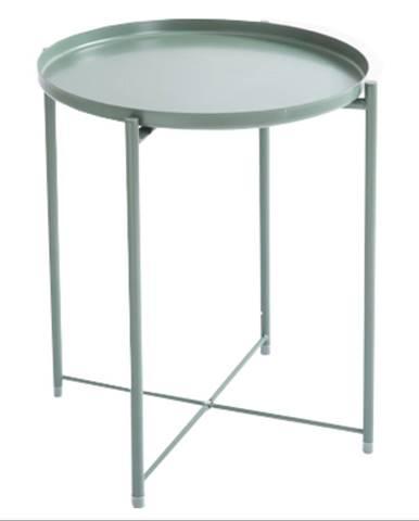Príručný stolík s odnímateľnou táckou zelená TRIDER