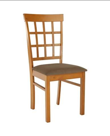 Stolička čerešňa/béžovohnedá GRID NEW poškodený tovar