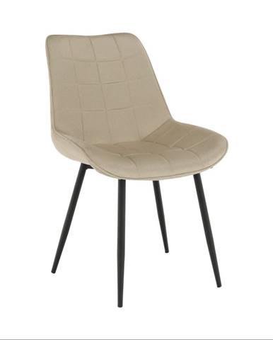 Stolička béžová/čierna SARIN poškodený tovar
