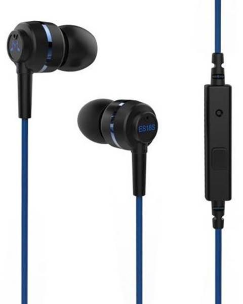 SoundMAGIC Slúchadlá Soundmagic ES18S čierna/modrá