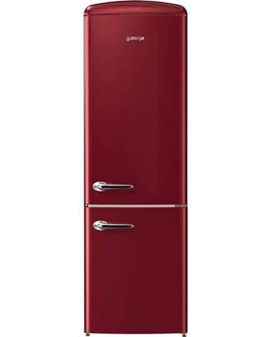 Kombinácia chladničky s mrazničkou Gorenje Retro Onrk193r vínov