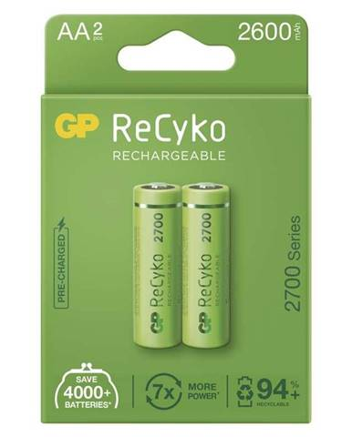 Batéria nabíjacie GP ReCyko, HR06, AA, 2600mAh, NiMH, krabička 2ks
