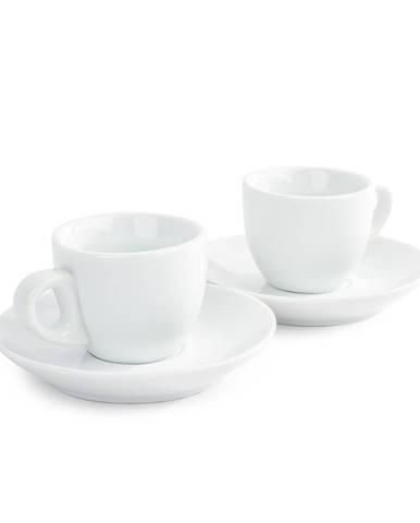 Domestic sada 2 šálok a 2 podšálok na Espresso, 80 ml
