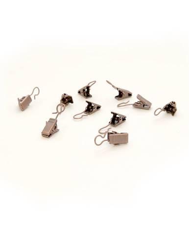 SP TREND Háčiky so žabičkou kovové, 10 ks, bronzové