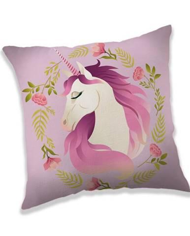 Jerry Fabrics Vankúšik Unicorn flower, 40 x 40 cm