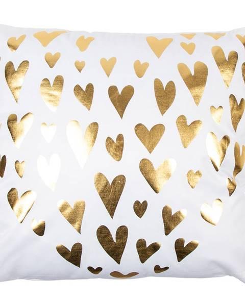 Orion JAHU Vankúšik Gold De Lux Srdce biela, 43 x 43 cm