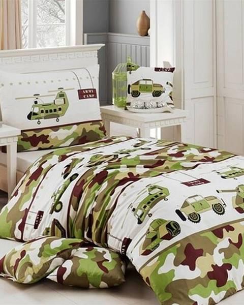 Matějovský Matějovský bavlnené obliečky Army, 140 x 200 cm, 70 x 90 cm
