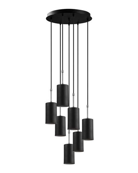 Opviq lights Čierne závesné svietidlo pre 7 žiaroviek Opviq lights Kem