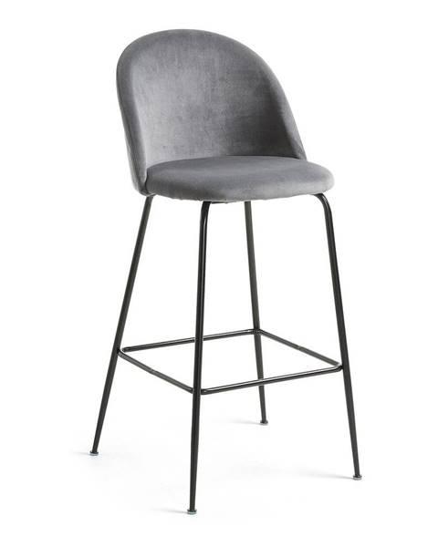 La Forma Sivá jedálenská stolička La Forma Hermann, výška 108 cm