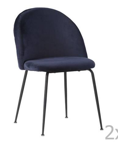 Sada 2 modrých jedálenských stoličiek HoNordic Geneve