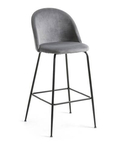 Sivá jedálenská stolička La Forma Hermann, výška 108 cm