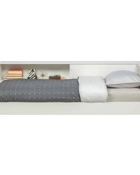WOOOD Biela jednolôžková posteľ z borovicového dreva WOOOD Connect