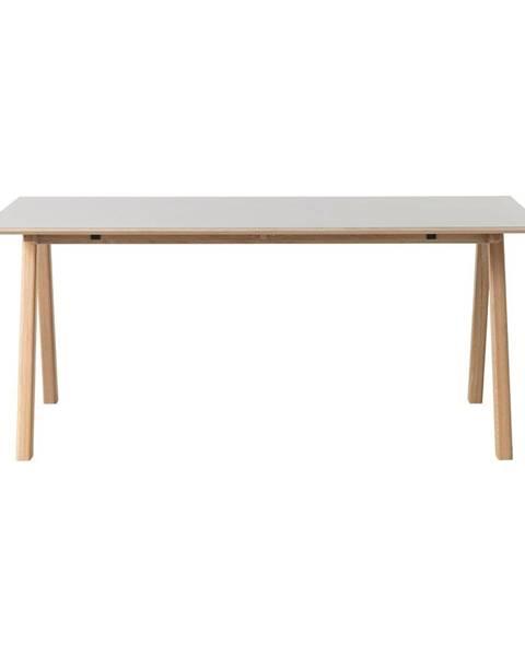 Unique Furniture Sivý jedálenský stôl Unique Furniture Bilbao, 180x90cm