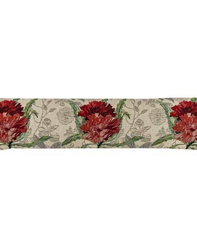 Boma Trading Ozdobný tesniaci vankúš do okien Ruže červená, 90 x 20 cm