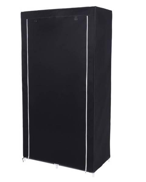 Sconto Látková šatníková skriňa RYG84 čierna