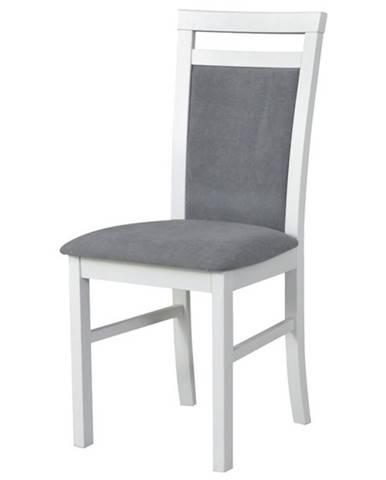 Jedálenská stolička MILAN 5 biela/sivá