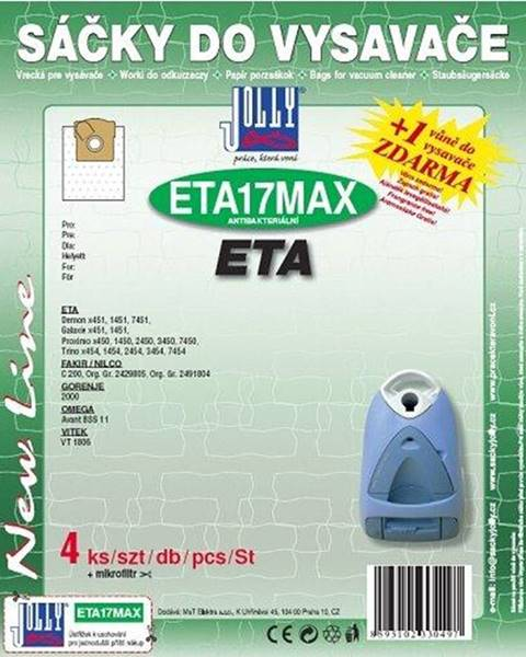 Jolly Sáčky pre vysávače Jolly MAX ETA 17