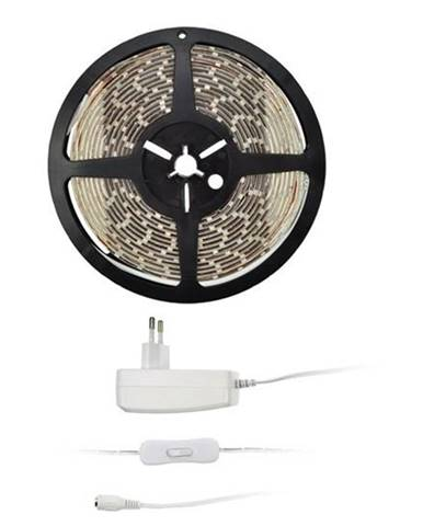 LED pásik Solight 4,8 W/m, studená bílá 6000K, adaptér s vypínačem
