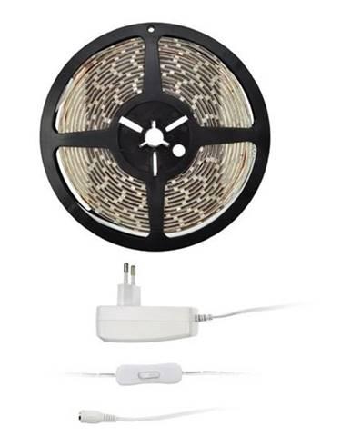 LED pásik Solight 4,8 W/m, teplá bílá 3000K, adaptér s vypínačem