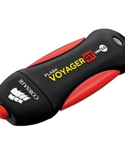 CORSAIR USB flash disk Corsair Voyager GT 64GB čierny/červený