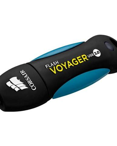USB flash disk Corsair Voyager 64GB čierny/modrý