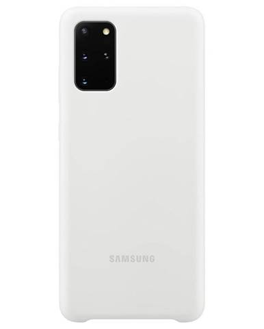 Kryt na mobil Samsung Silicon Cover na Galaxy S20+ biely