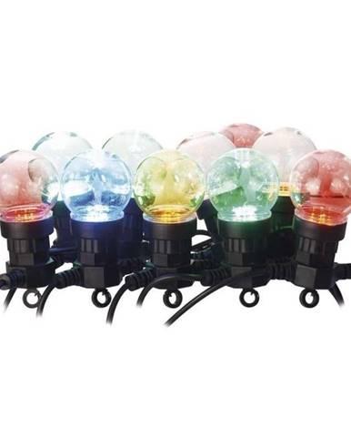 Vianočné osvetlenie Emos 50 LED, 10x párty žárovky, 5m, multicolor