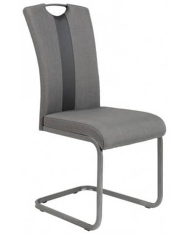 Jedálenská stolička Amber 2, šedá látka / ekokoža%