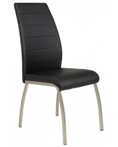 Jedálenská stolička Amber 5, čierna ekokoža%