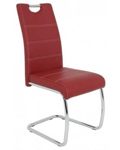 Jedálenská stolička Flora, bordó ekokoža%