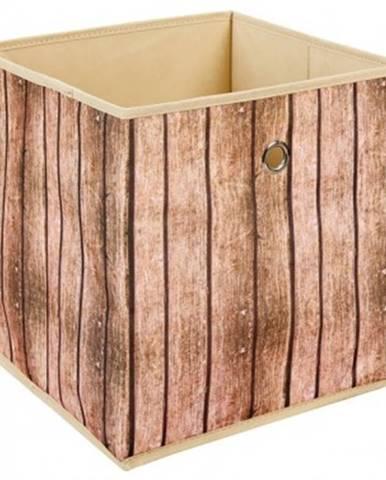 Úložný box Wuddi 1, motív dreva%