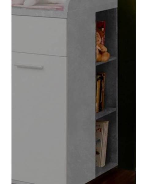 ASKO - NÁBYTOK Nízký regál Winnie R43, šedý beton/biela%