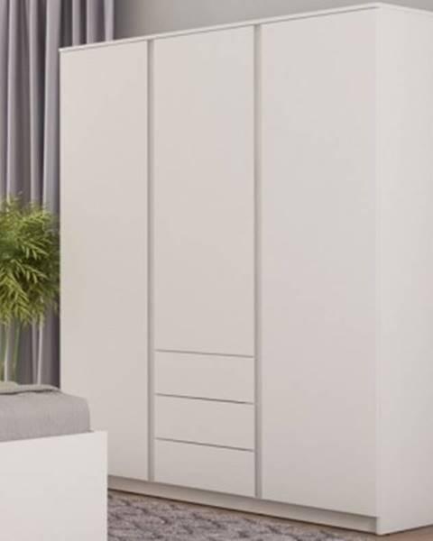 ASKO - NÁBYTOK Šatníková skriňa Carlos, biela, 152 cm%
