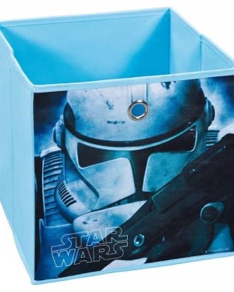 ASKO - NÁBYTOK Úložný box Star Wars 1, modrý, motív bojovníka%