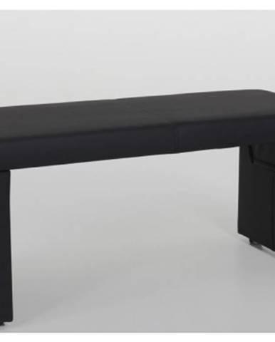 Jedálenská lavica Taina 2B, čierna ekokoža%