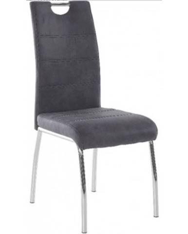 Jedálenská stolička Susi, antracitová vintage látka%
