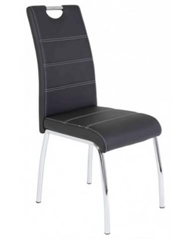 Jedálenská stolička Susi, čierna ekokoža%