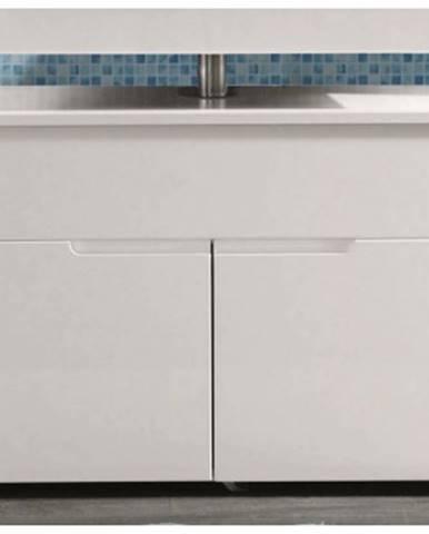 Kúpeľňová skrinka pod umývadlo Spice, lesklá biela%
