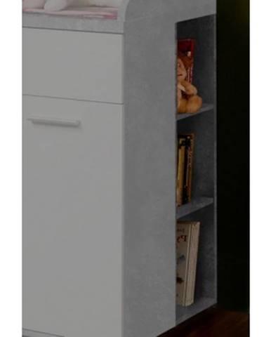 Nízký regál Winnie R43, šedý beton/biela%