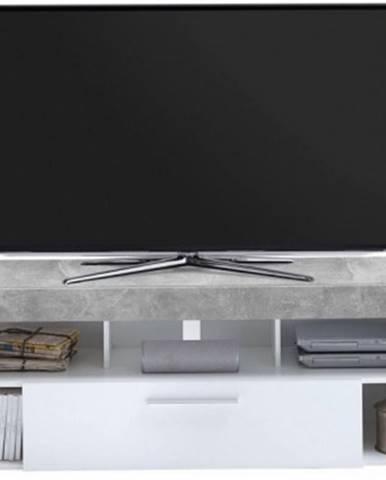 TV stolek Vibio 1, beton/biela%